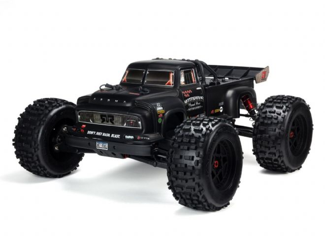 Notorious AR106034 6S 1/8 Classic Stunt Truck RTR Black